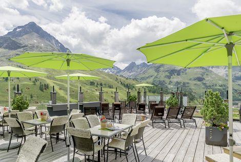 Sunny terrace in summer