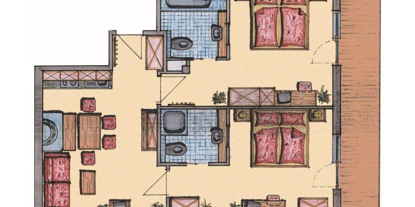 Grundriss Appartement Die Tuxerin