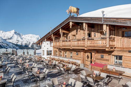 Beautiful sunny terrace - Kühtaier Dorfstadl