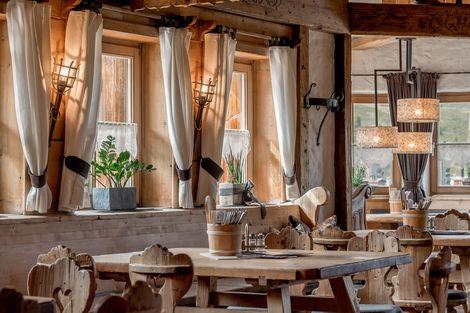 Restaurant in the Kühtaier Dorfstadl right on the slopes