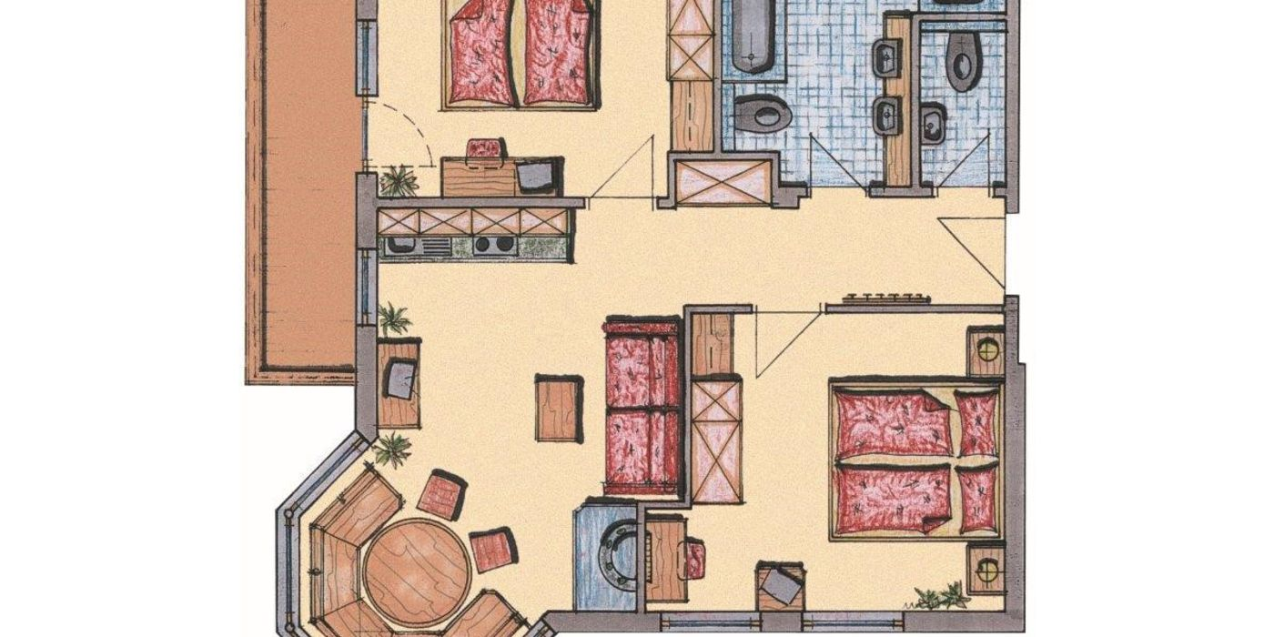 "Floor plan for ""Die Graue"" apartment"