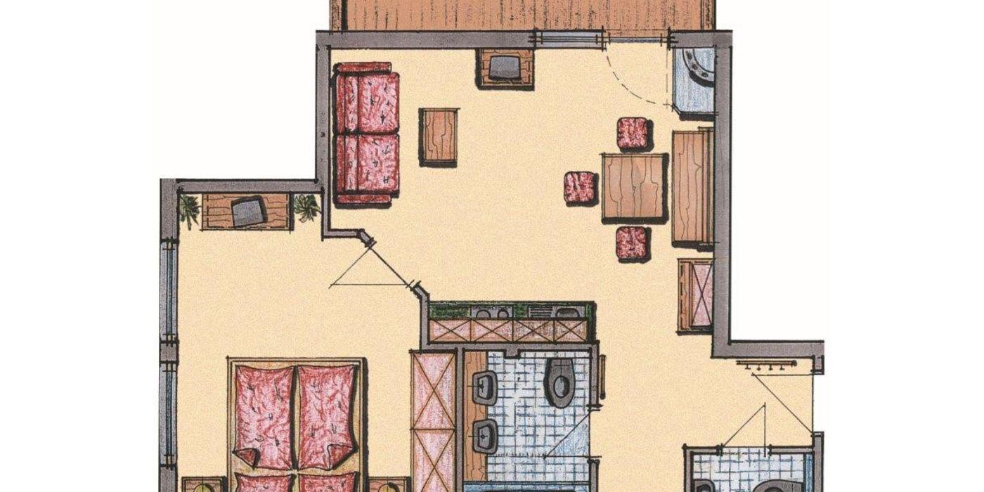 Grundriss Appartement Die Pinzgauerin